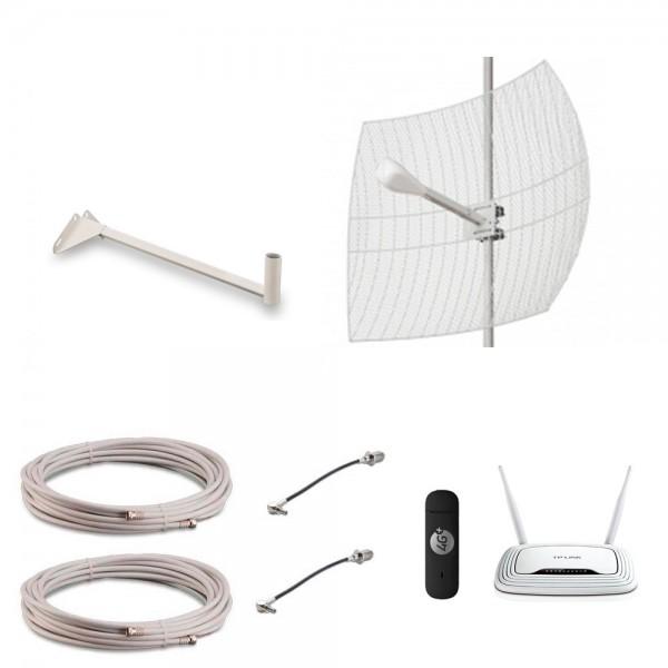 Комплект KDI-24MIMO-MR для усиления 3G-4G интернета Мощный для дачи, загородного дома купить с доставкой