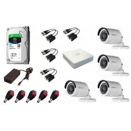 Комплект видеонаблюдения HD 4 камеры